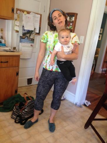 Running around with my kids in tye dye and yoga pants... KILLING IT.